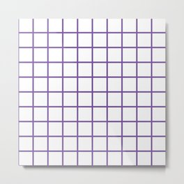 Purple Grid Pattern Metal Print