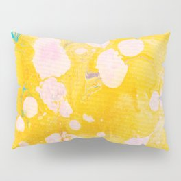 speckled marble | yellow Pillow Sham