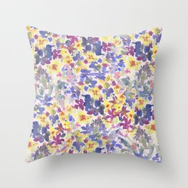 Lovely Little Wildflowers Throw Pillow