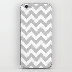 Silver Chevron Pattern iPhone & iPod Skin