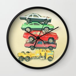 Pile Up Wall Clock