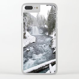 The Wild McKenzie River Waterfall - Nature Photography Clear iPhone Case