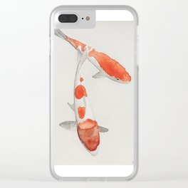 Watercolor Japanese Koi Fish Clear iPhone Case
