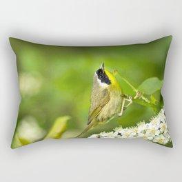 Common Yellowthroat Warbler Rectangular Pillow