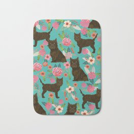 cairn Terrier florals dog pattern dog breed pet friendly gifts for dog person Bath Mat