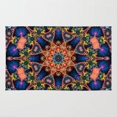 BBQSHOES: Kaleidoscopic Fractal Digital Art Design 1702K Rug
