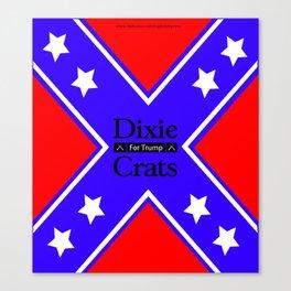 Dixiecrats For Trump Canvas Print
