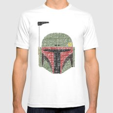 Lines of Boba Fett Mens Fitted Tee White MEDIUM
