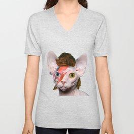 Bowie Cat Unisex V-Neck