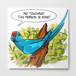 Talking blue ringneck parrot Metal Print