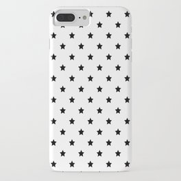 Black and white Star Pattern iPhone Case