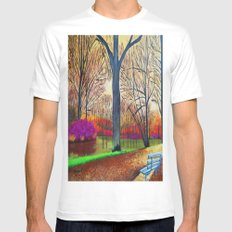 Wonderful colors of fall Mens Fitted Tee MEDIUM White