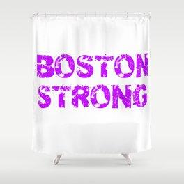 Support BOSTON STRONG Purple Grunge Shower Curtain