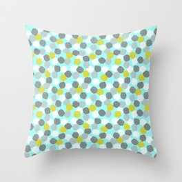 Block Printed Floral Throw Pillow
