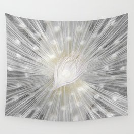 White Peacock Wall Tapestry