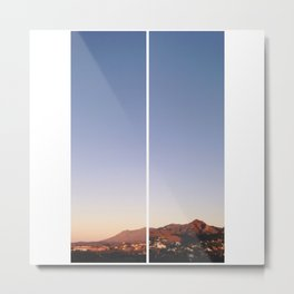 Morning Mountains in Estepona Metal Print