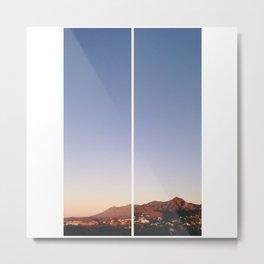 Morning Mountains in Estepona Metal Print