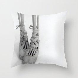 Skeleton Pointe Throw Pillow