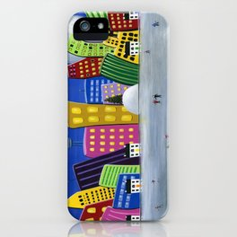 Hilly Meets Holiday Harbour iPhone Case