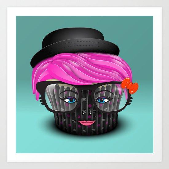 Lil' Poison Cupcake Art Print