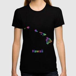 Rainbow Hawaii map T-shirt