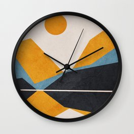 Line Mountain Beauty II Wall Clock