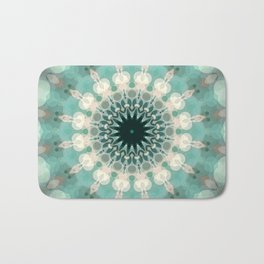 Sea Foam Bohemian Mandala Design Bath Mat