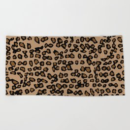 Digital Leopard Beach Towel