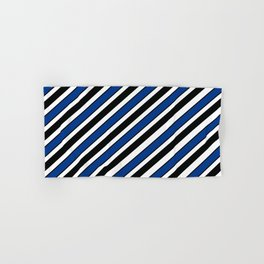 TEAM COLORS 1…Black, navy and white team  colors Hand & Bath Towel