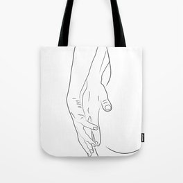 Lovers Nude Minimal 3 Tote Bag