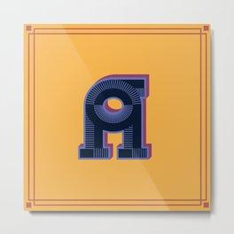 Alphabet Drop Caps Series- A Metal Print
