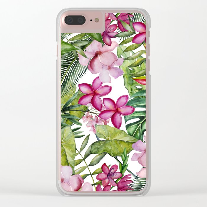 Tropical Garden 3 Clear iPhone Case