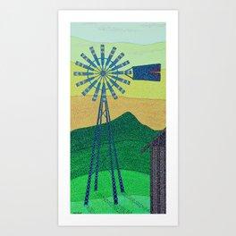 down on the farm Art Print