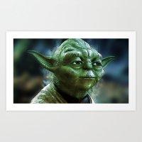 yoda Art Prints featuring Yoda by Robin Curtiss