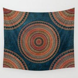 Earth Tone Colored Mandala Wall Tapestry