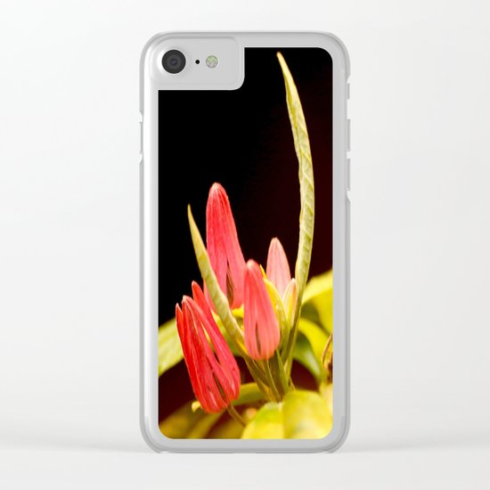 Exotic Colorful Flowers Clear iPhone Case