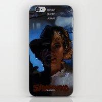 freddy krueger iPhone & iPod Skins featuring Freddy Krueger - Never Sleep Again by Saint Genesis