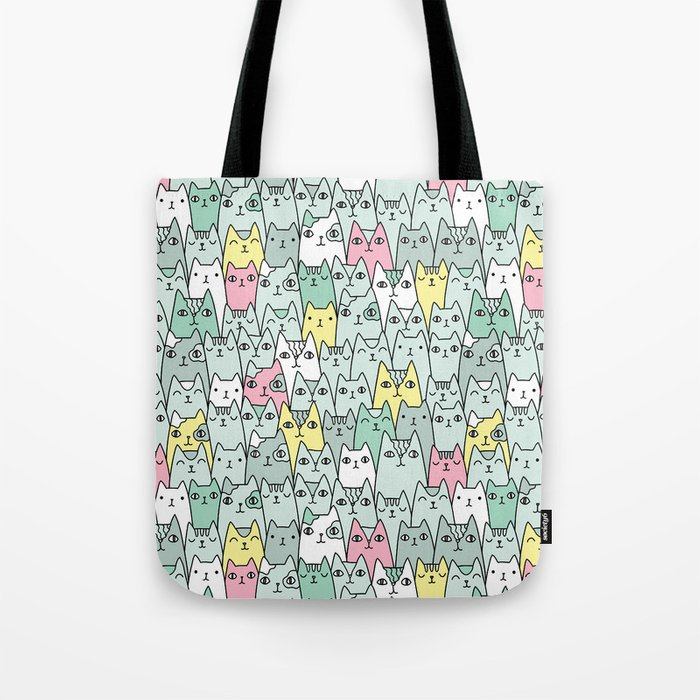 Cute cats family Tote Bag