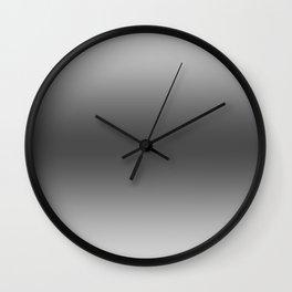 Gray to Black Horizontal Bilinear Gradient Wall Clock