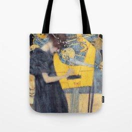 """Gustav Klimt """"Music (Die Musik)"""" Tote Bag"""