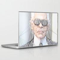 karl Laptop & iPad Skins featuring ICONS: Karl Lagerfeld by LeeandPeoples