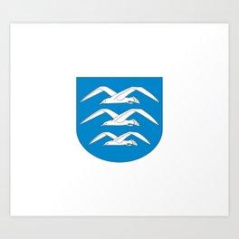 flag of Haugesund Art Print