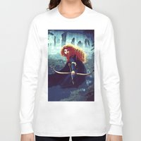 merida Long Sleeve T-shirts featuring Brave - Merida by Juniper Vinetree