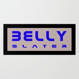Belly Slater logo Art Print