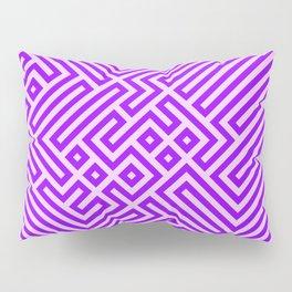 Optical Chaos 03 purple Pillow Sham