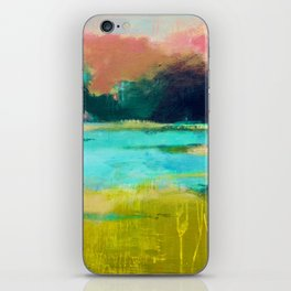 Lime and Turquoise iPhone Skin