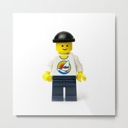 Casual Minifig in summer shirt and beanie Metal Print