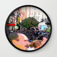 it crowd Wall Clocks featuring Crowd  by osile ignacio