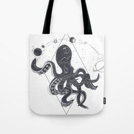 Space Mutan Octopus the Legend of Space Tote Bag