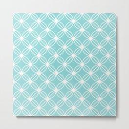 Abstract Circle Dots Mint Metal Print